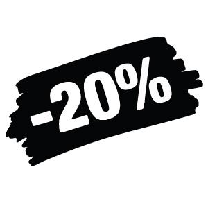 Sconti dal 20%